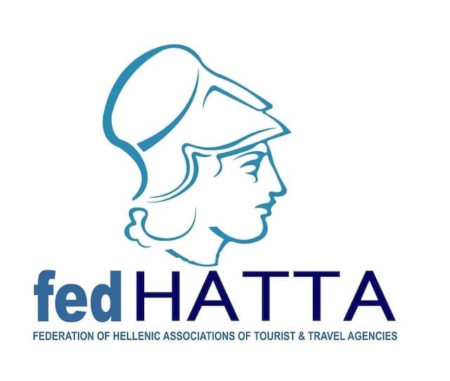 Logo of the HATTA FEDERATION, the Hellenic Associations of Tourist & Travel Agencies